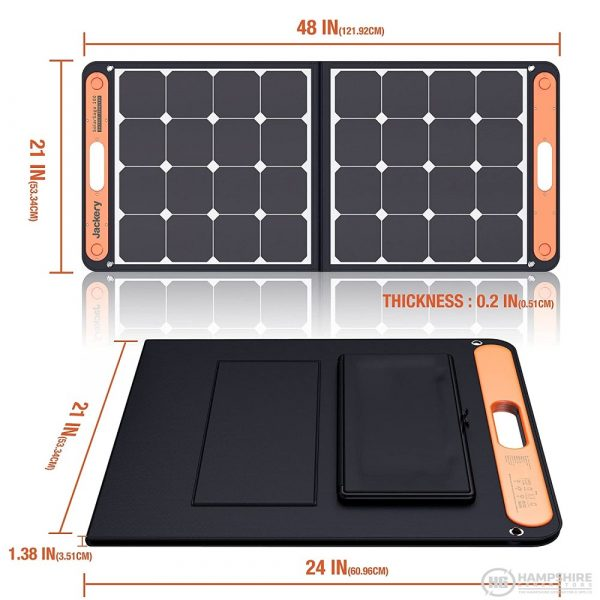 Jackery SolarSaga 100W Solar Panel Dimentions