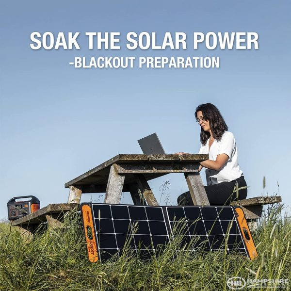Jackery SolarSaga 100W Solar Panel Lifestyle