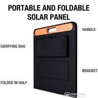Jackery SolarSaga 100W Solar Panel What you get