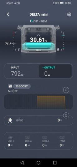 EcoFlow Delta Mini App AC Charging